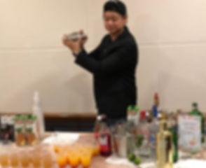 Bartender Cocktail Station Rental Mocktail pop up bar counter dinner