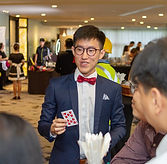 Roving Magician fringe activity roving talent entertainment best singapore kids birthday party corporate event company