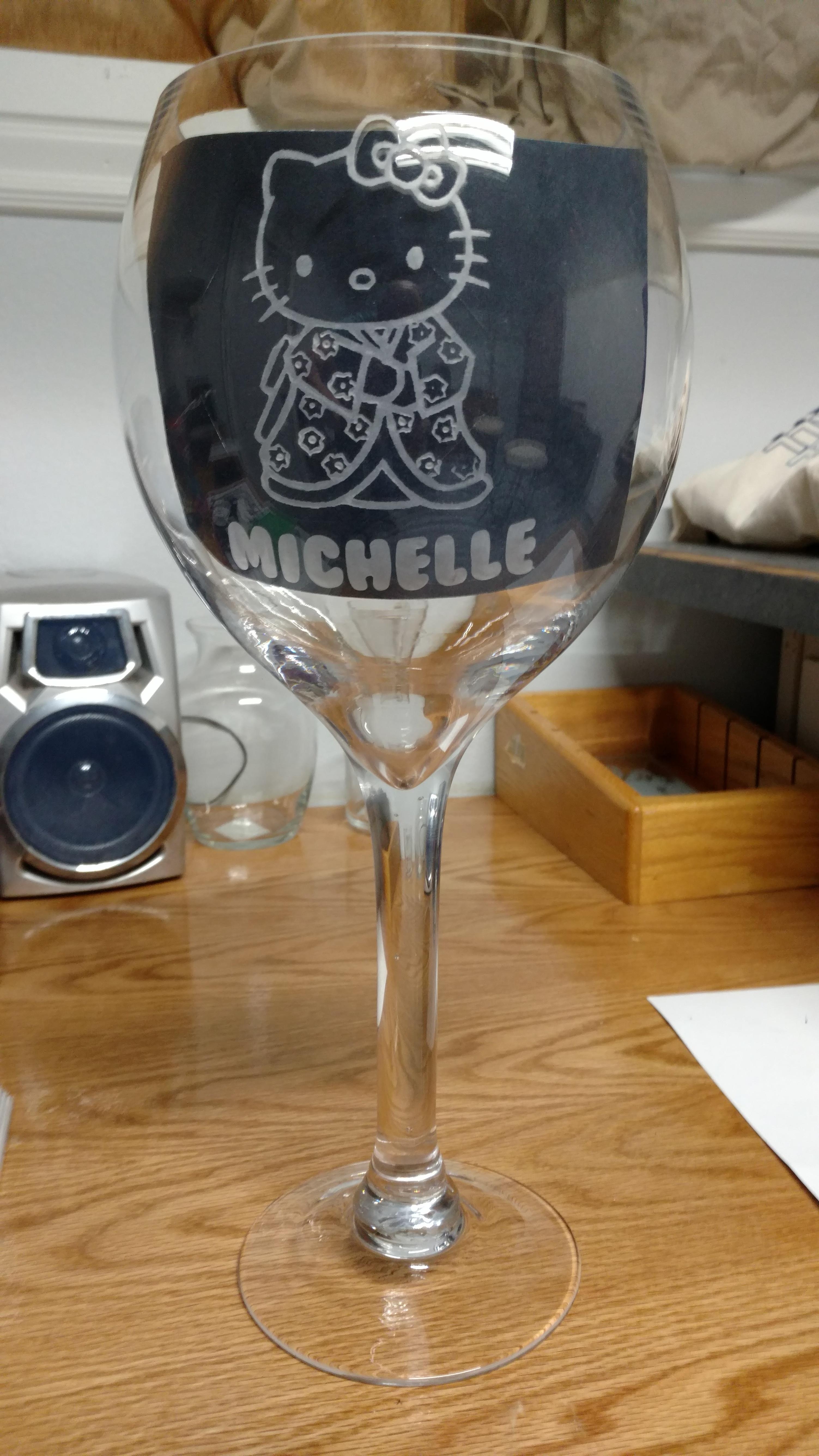 Hello Kitty Giant wine glass