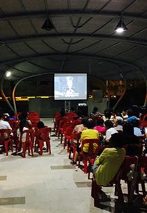 movie screening package screen projector speaker