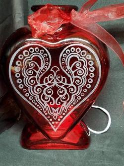 Heart Shaped Flower Vase for Valenti