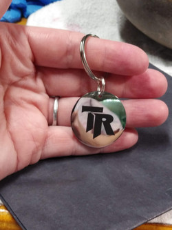 Pendant Etched Painted