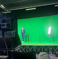physical studio rental green screen wall av equipment virtual event