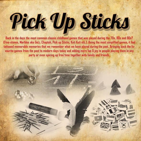 Pick Up Sticks Retro Carnival Game Stall
