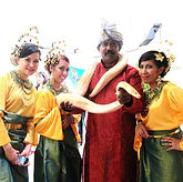 snake charmer fringe activity roving talent entertainment best singapore kids birthday party corporate event company