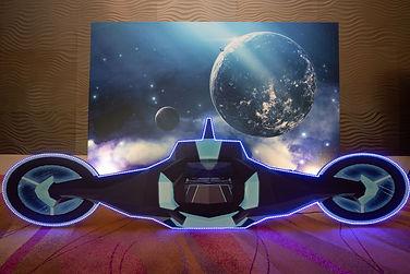 Space ship LED props rental backdrop