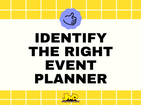 Identifying The Right Event Planner