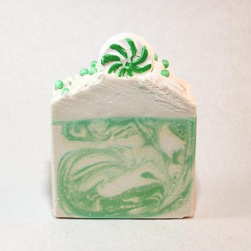Frosty Swirl Goatmilk Soap