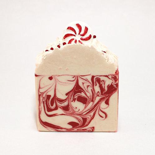 Candy Cane Swirl Goat Milk Soap