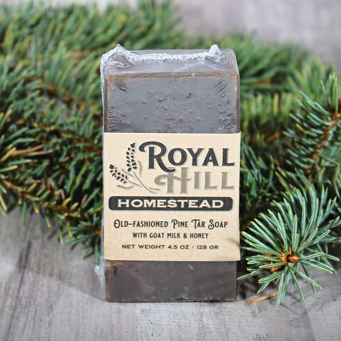 Old Fashioned Pine Tar Goat Milk Soap