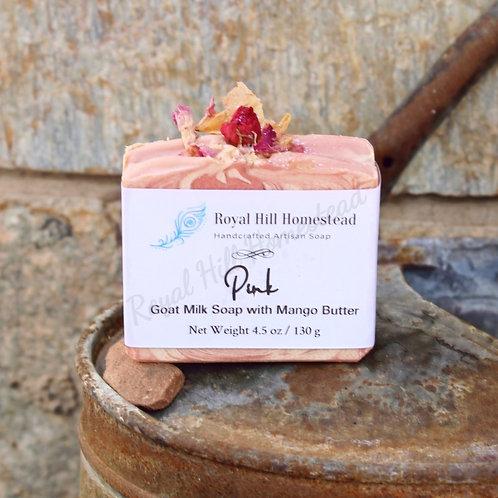 """Pink"" Goat Milk Soap"