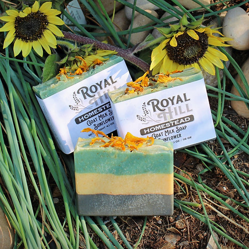 Sunflower Goat Milk Soap with Aloe