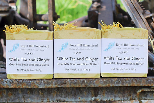 Nourishing White Tea and Ginger Soap with Aloe