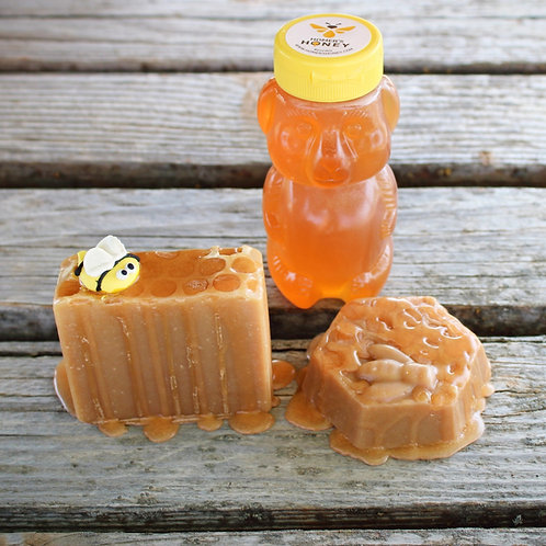 Raw Honeycomb Soap with Honey and Beeswax