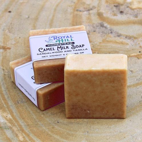 Sandalwood and Vanilla Camel Milk Soap
