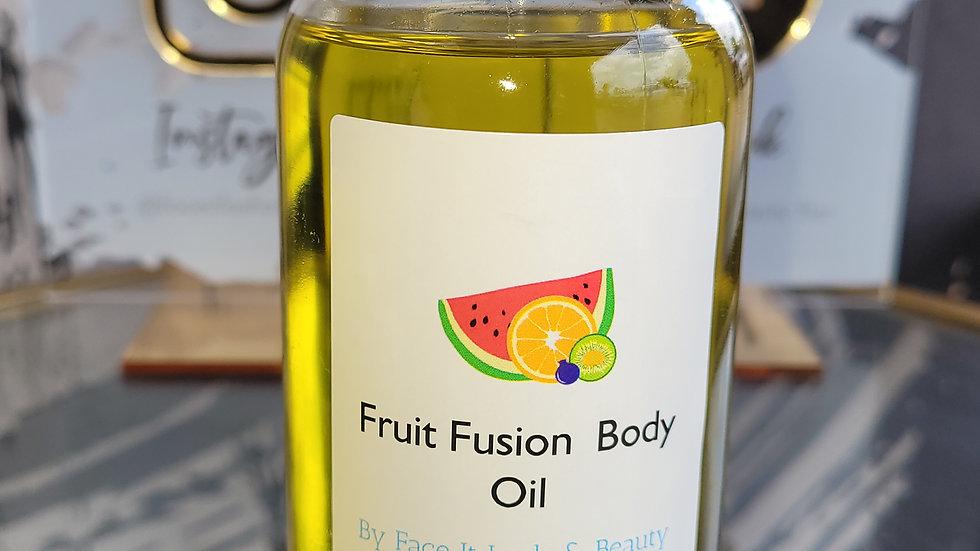 Fruit Fusion Scented Body Oil 8oz.🍓🍉