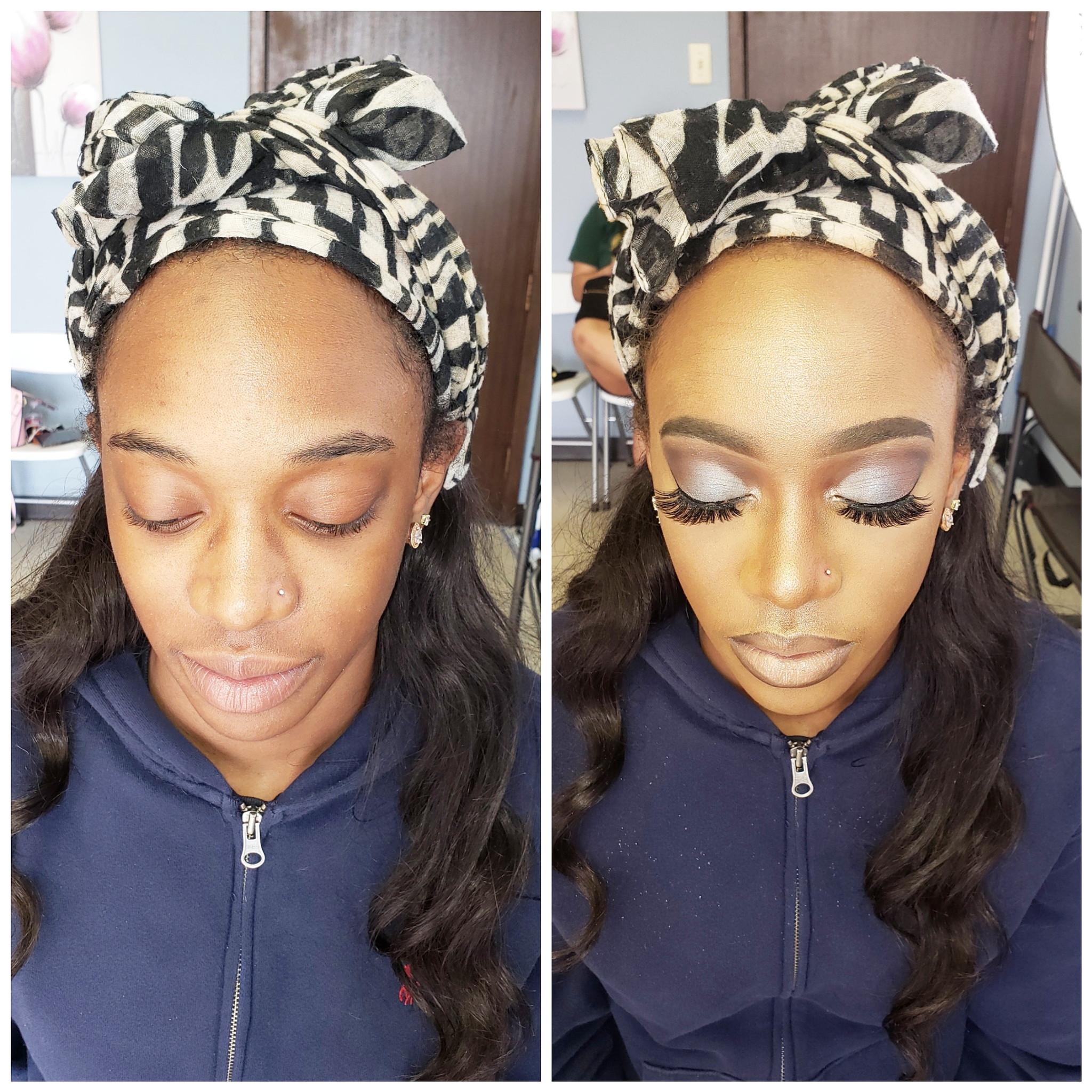 Total Face with lash strip (Makeup)