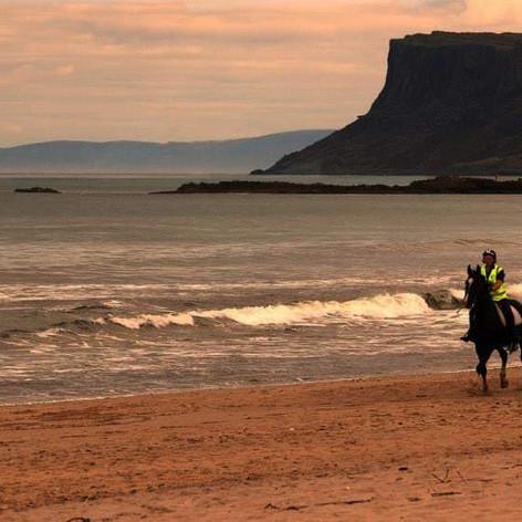Horseriding Ballycastle beach