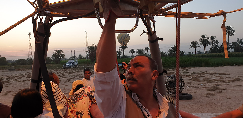 Notre aérostier Mahmoud excellent !