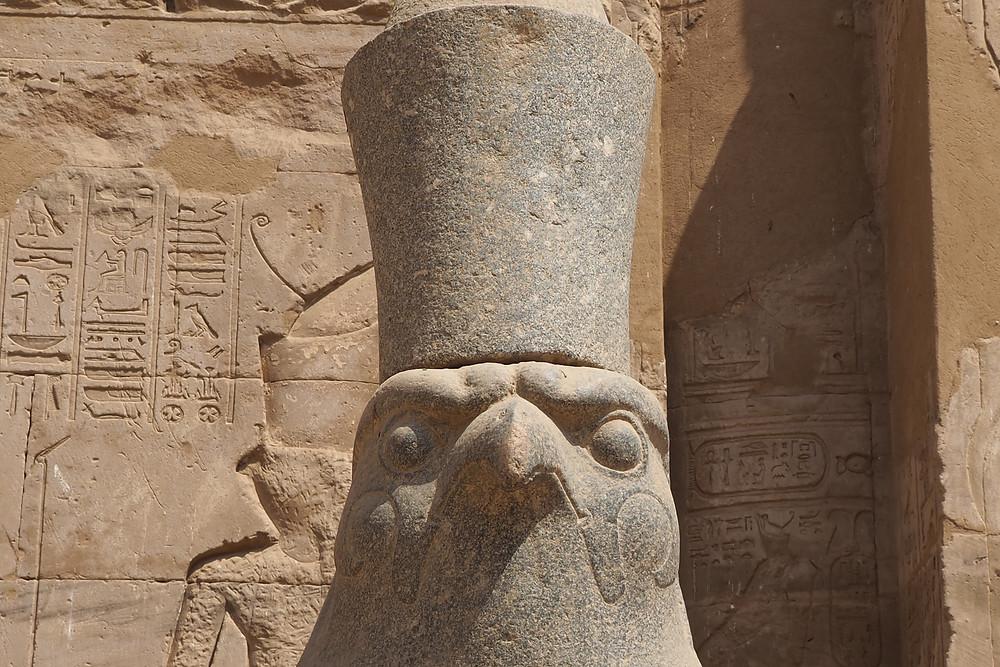 Dieu Horus au Temple d'EDFOU Egypte  - Croisière septembre 2018
