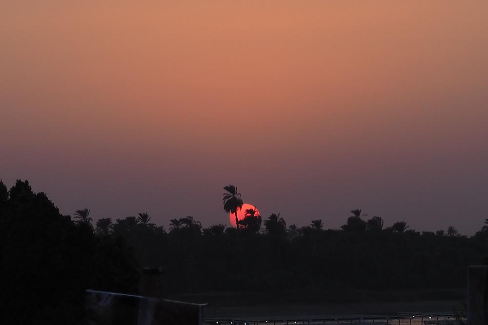 coucher de soleil egypte crédit SAYGEOMANCIE