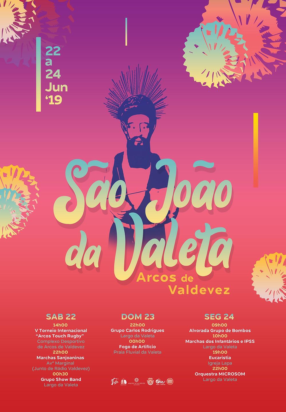 Cartaz do São João da Valeta, Arcos de Valdevez  Peneda Gerês TV
