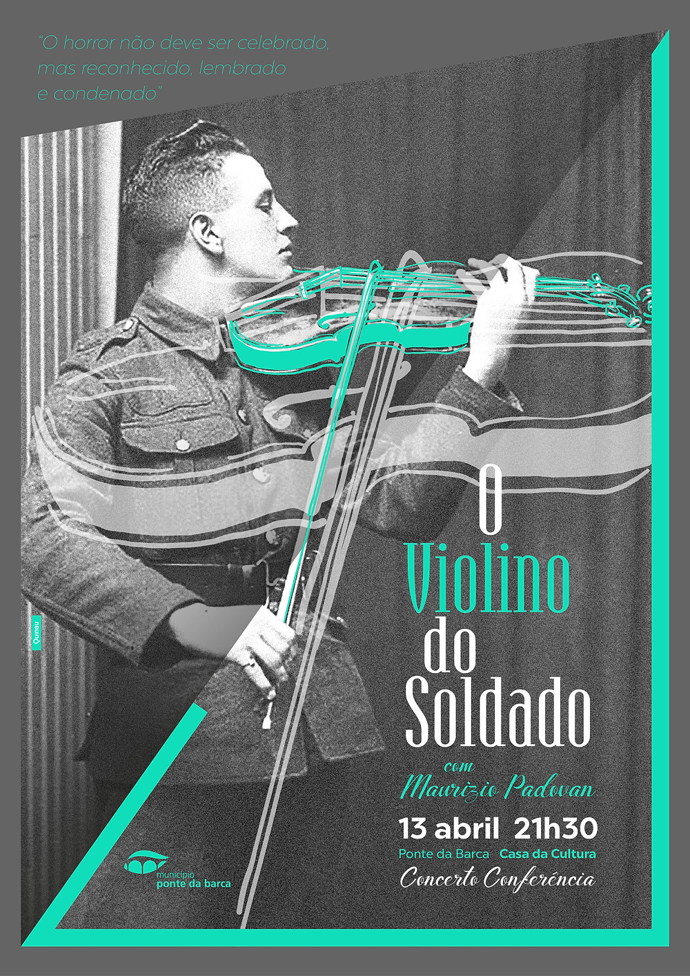 """Concerto-conferência """"O Violino do Soldado"""" com Maurizio Padovan   Peneda Gerês TV"""