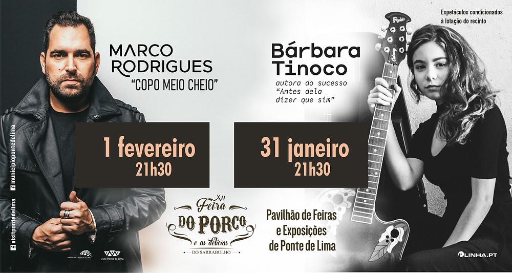 Bárbara Tinoco e Marco Rodrigues na XII Feira do Porco e as Delícias do Sarrabulho em Ponte de Lima | Peneda Gerês TV