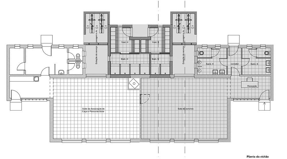 Antiga escola de Chorense - Planta do Rés do chão   Peneda Gerês TV