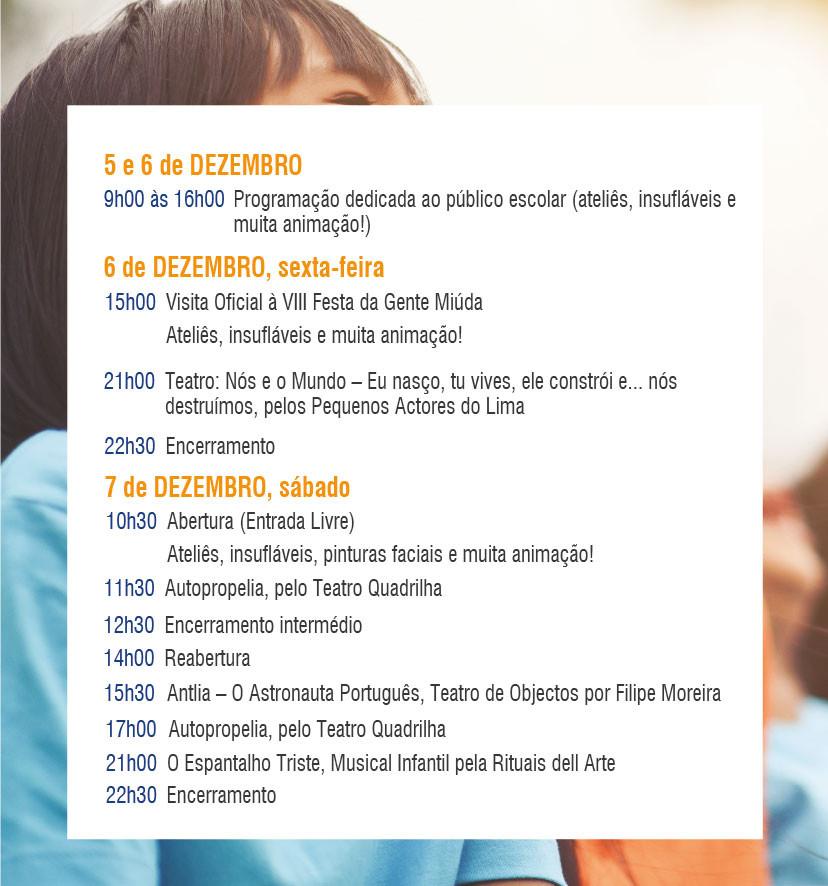 VIII Festa da Gente Miúda de 6 a 8 de dezembro em Ponte de Lima | Programa 1 | Peneda Gerês TV