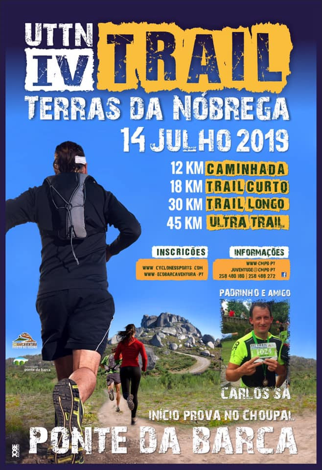 Cartaz do IV Trail Terras da Nóbrega| Peneda Geres TV