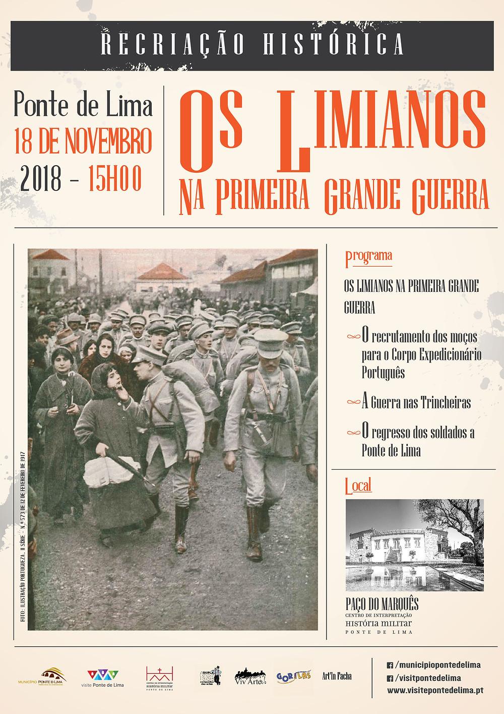 """Recriação histórica """"Os Limianos na Primeira Grande Guerra""""   Peneda Gerês TV"""