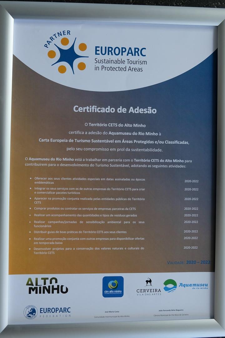 Aquamuseu de Cerveira reconhecido como parceiro da Carta Europeia de Turismo Sustentável | Peneda Gerês TV