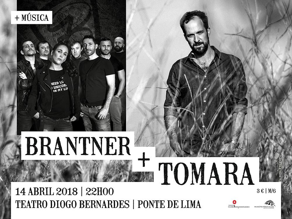 BRANTNER + TOMARA 14 de Abril às 22h00 no Teatro Diogo Bernardes – Ponte de Lima | Peneda Gerês TV
