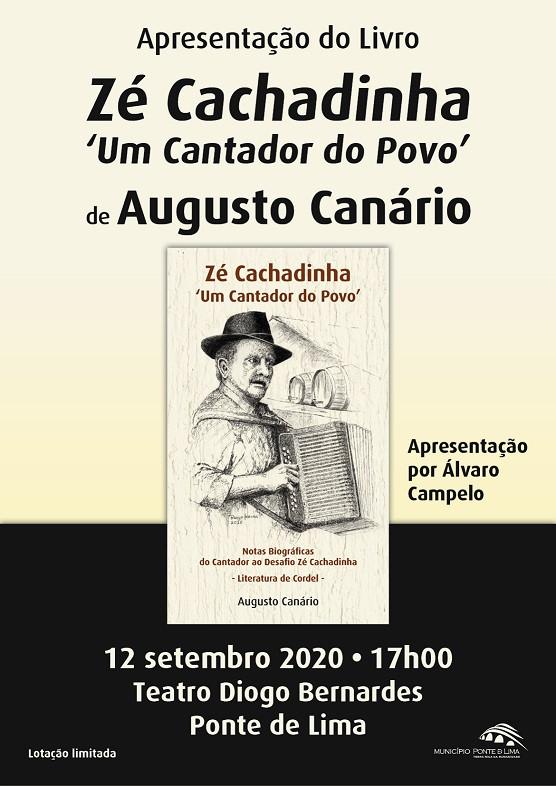 """Augusto Canário apresenta livro """"Zé Cachadinha – Um cantador do Povo"""""""