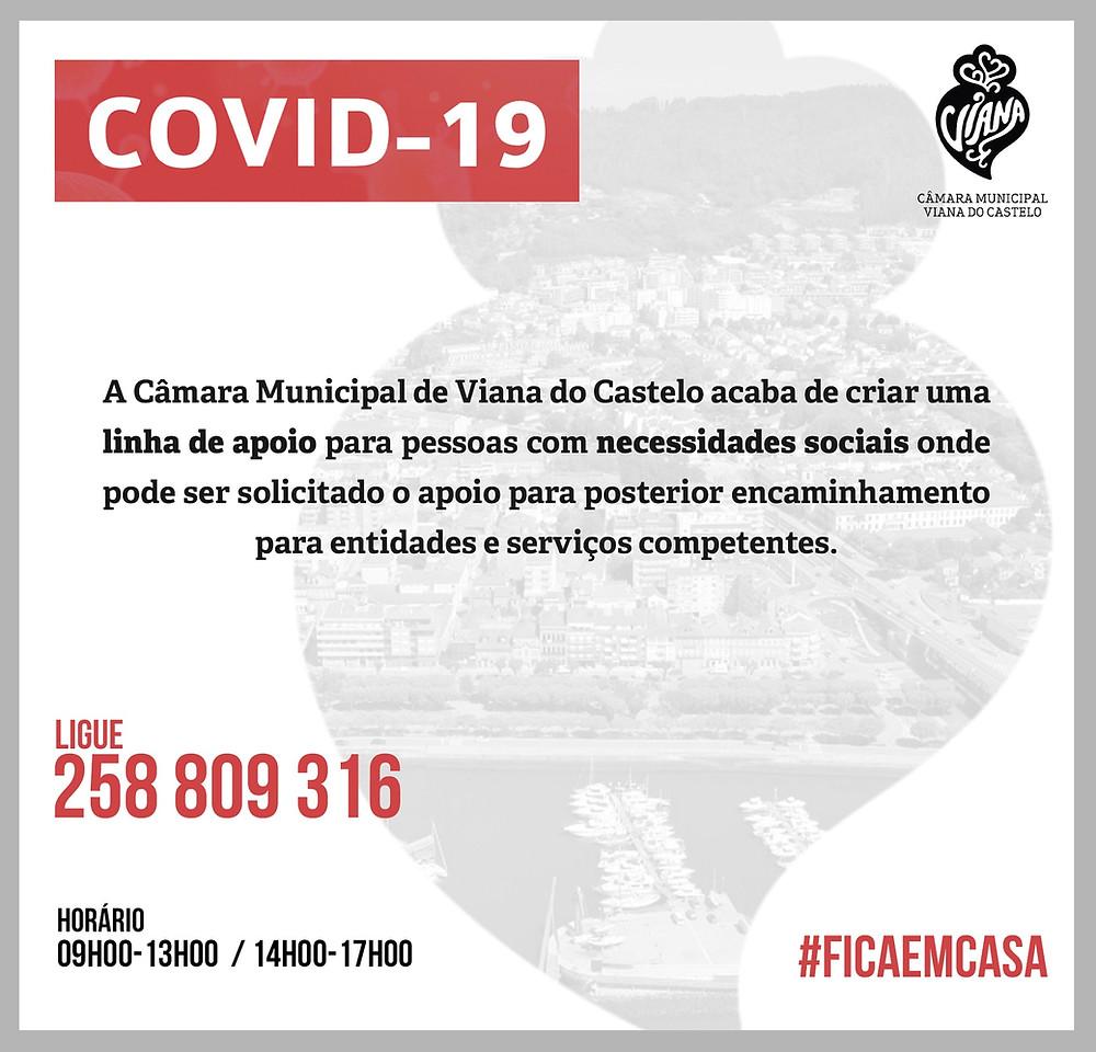 Município disponibiliza linha telefónica de apoio social à população de Viana do Castelo | Peneda Gerês TV