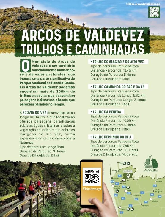 O guia Visão, que acompanha a edição da revista Visão desta semana, destaca trilhos e caminhadas, em Arcos de Valdevez