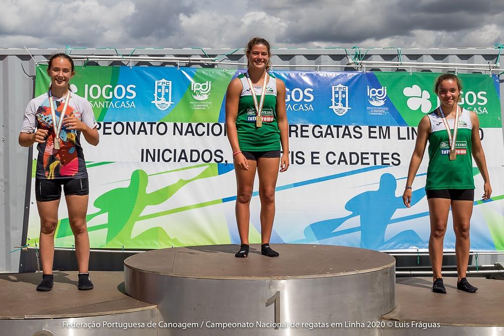 Maria Enes da DKC é vice campeã nacional de velocidade em k1 infantil 500m