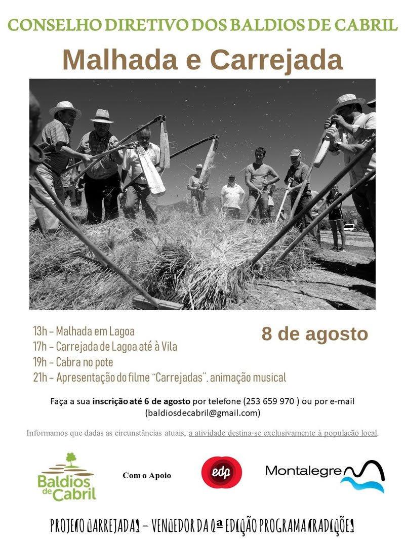 """Conselho diretivo dos baldios de Cabril organiza """"Malhada e Carrejada"""" a 8 de agosto"""