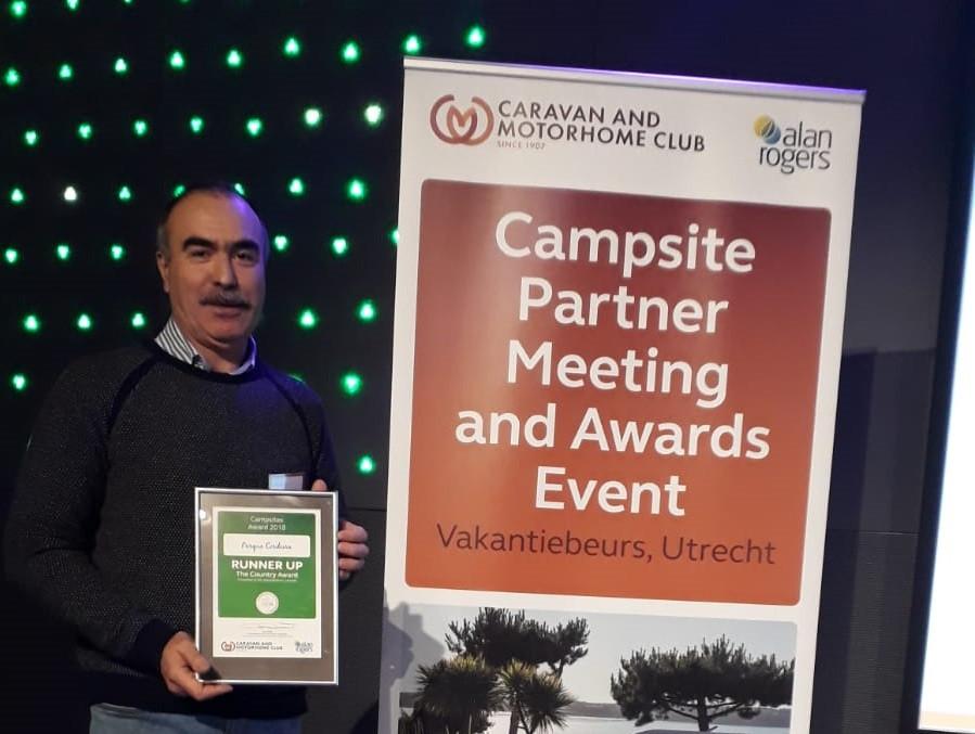 Parque Cerdeira galardoado na Holanda com prémio Caravan Club & Alan Rogers | Peneda Gerês TV