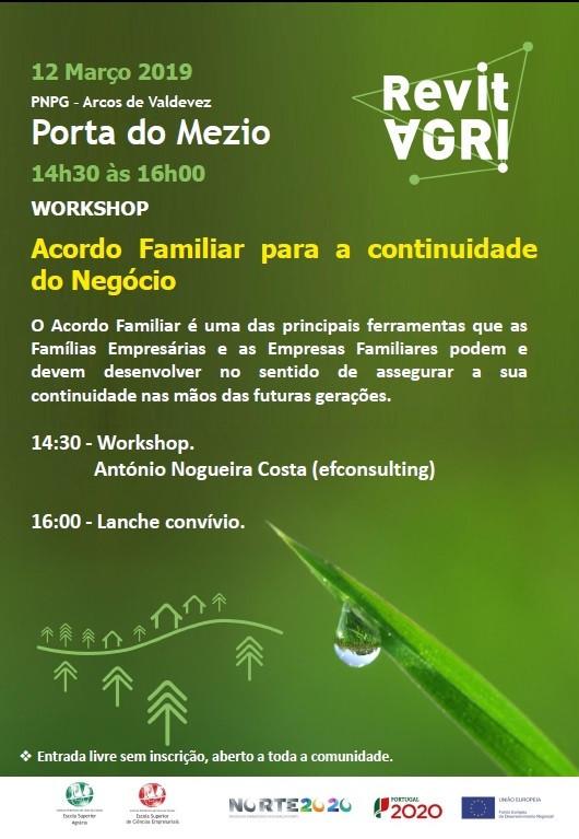 Workshop Acordo Familiar para a continuidade do Negócio | Peneda Gerês TV