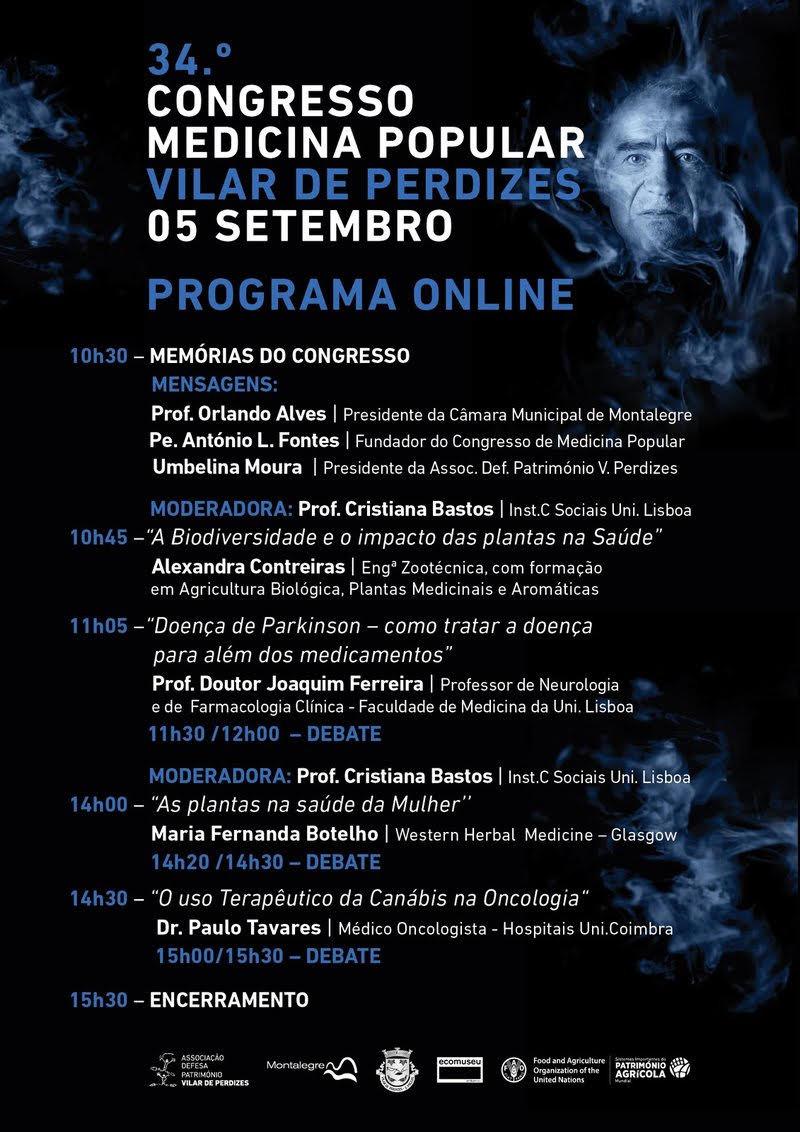 Vilar de Perdizes - 34.º Congresso de Medicina Popular (Programa Online)