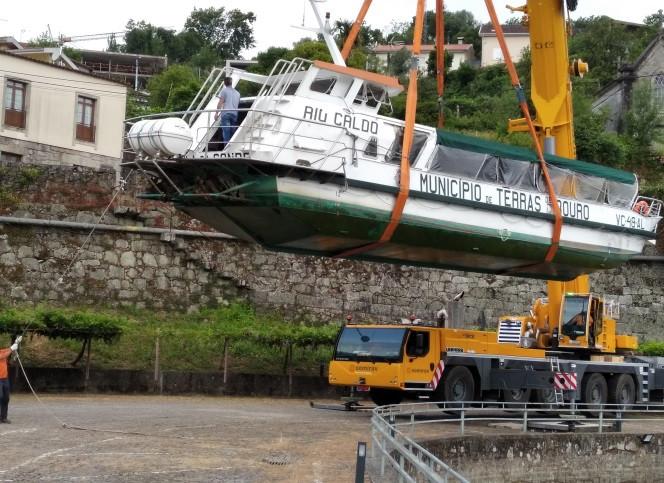 """Plataforma de Ancoramento e Embarcação """"Rio Caldo"""" alvos de inspeção de segurança"""