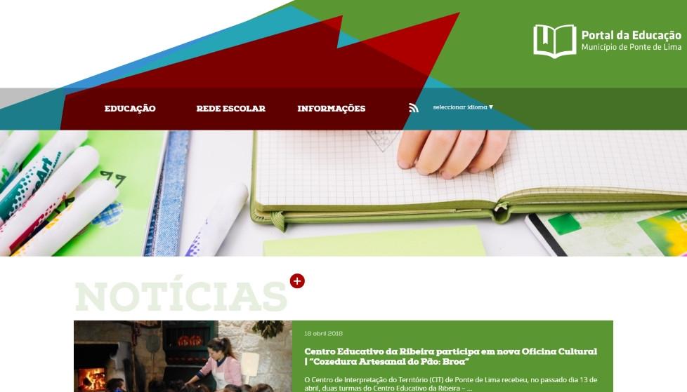 Atualização do Portal da Educação do Município de Ponte de Lima | Peneda Gerês TV