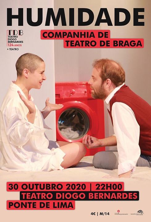 Na próxima sexta-feira, 30 de outubro, às 22h00, no Teatro Diogo Bernardes, em Ponte de Lima, sobe à cena o espectáculo de teatro Humidade, pela Companhia de Teatro de Braga
