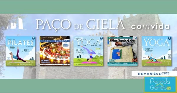 De 8 a 29 de novembro, visite o Paço de Giela e desfrute das várias atividades programadas