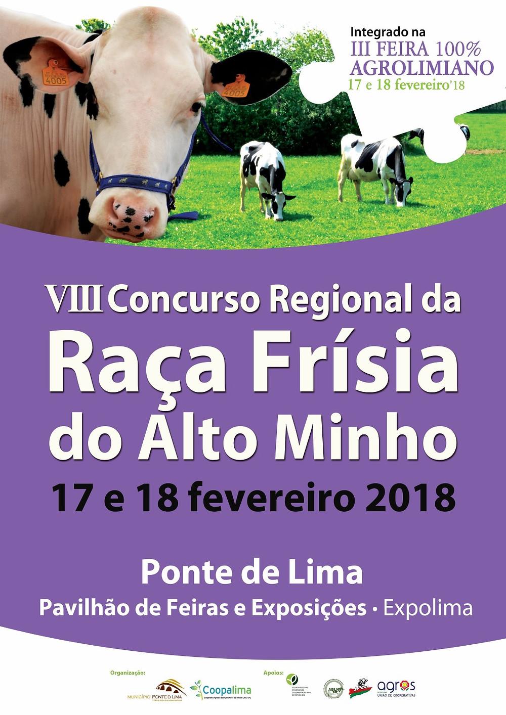 """8º Concurso Regional da Raça Holstein Frísia do Alto Minho na """"III Feira 100% Agrolimiano"""""""