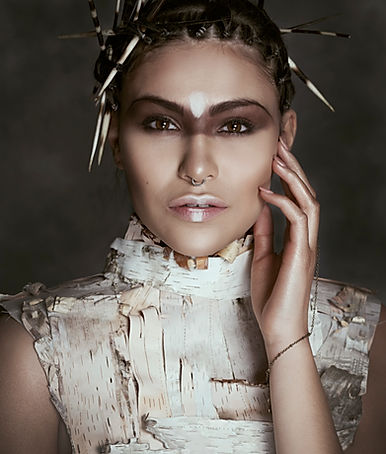 Creative Canadian Designer Laurie Brown PORTFOLIO. Birtch Bark neck piece costume