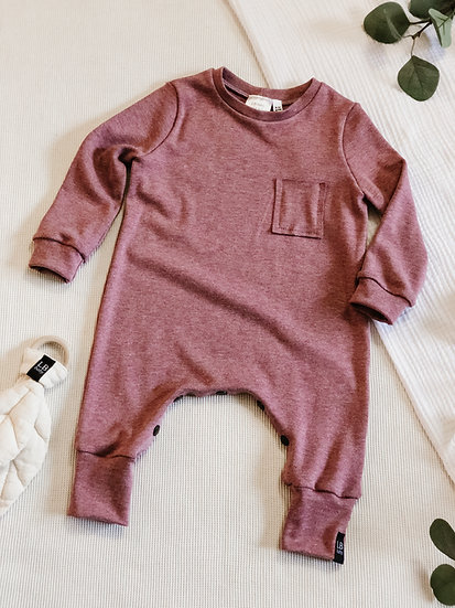 Bamboo Cotton Long Sleeve Romper