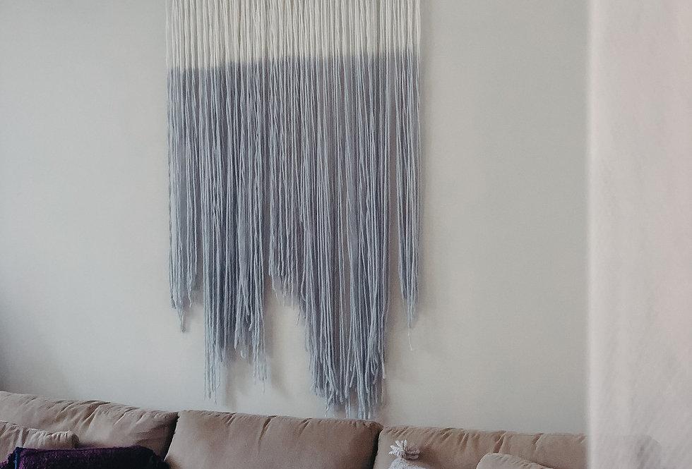Fibre Wall Art - Dip Dye Grey